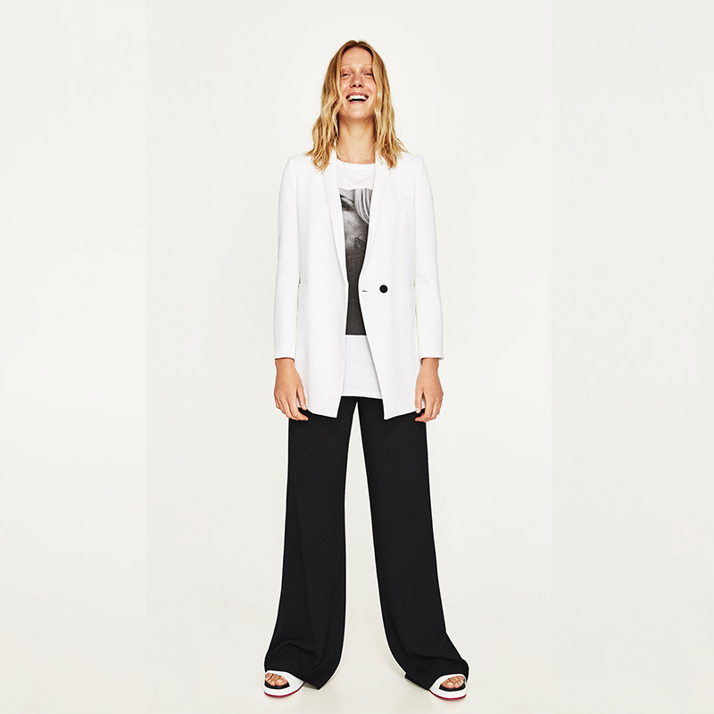 Jacket+Pants Women Business Suits Fashion White Jacket Black Pants Female Office Uniform Ladies Formal Trouser Suit 2 Piece Set