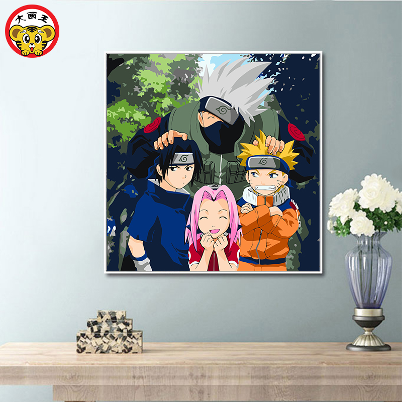 Painting By Numbers Art Paint By Number Naruto Series Room Decorative Paintings Big Painting King DIY Digital Painting Hand-pain