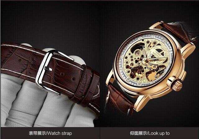 Skeleton Designer Men Mechanical Watches Self Wind Brand Dress Wrist watch Leather Strap Business Clock Analog Relojes NW3532