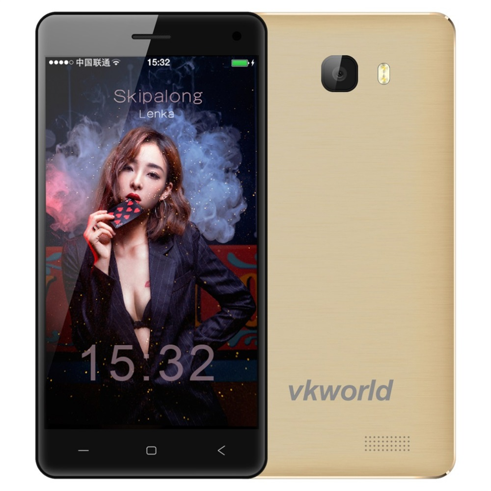VKworld T5 5 inch Smartphone Android 5 1 MTK6580 Quad Core Cell Phone 2G RAM 16G
