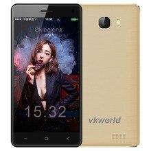 VKworld T5 5 дюймов Смартфон Android 5.1 MTK6580 Quad Core Сотовый Телефон 2 Г RAM 16 Г ROM Dual SIM двойная Камера GPS 3 Г Мобильный Телефон