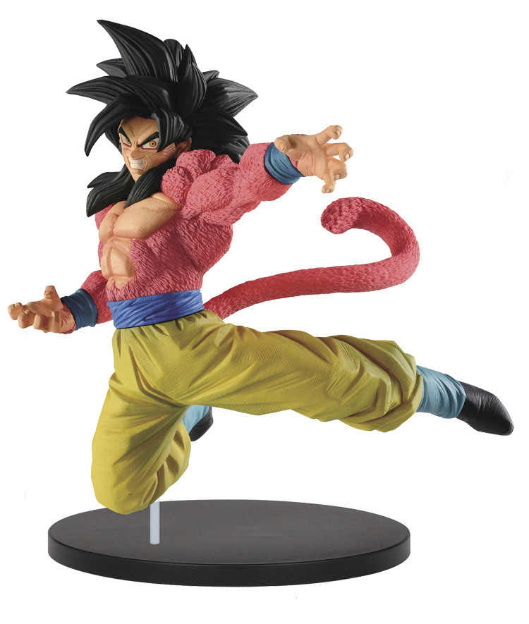New Anime Dragon Ball Z Son Goku Super Saiyan 4 Combat Form Red Hair Action Figure DBZ ChocolatePVC Collection Model 20cm