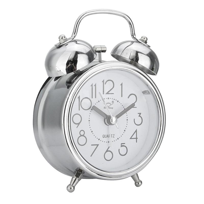 2b5b22881a0 Despertadores silencioso do vintage retro relógios Função   com Luz de Fundo