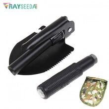 Rayseeda многофункциональные складные походные лопаты, портативные открытые разведочные военные лопаты, аварийный инструмент с камуфляжной сумкой