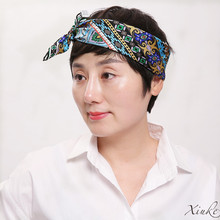 new fashion 100% silk women Square scarf,Material:twill silk, size:52x52,Thickness 12mm  2 colors blue