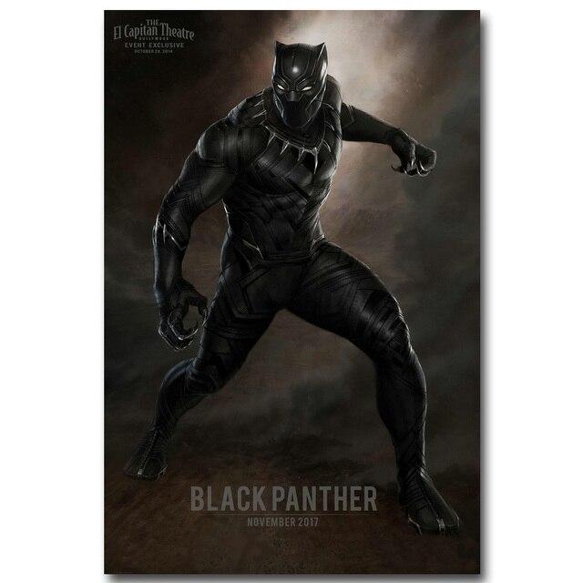 Плакат Гобелен Шелковый постер черная пантера