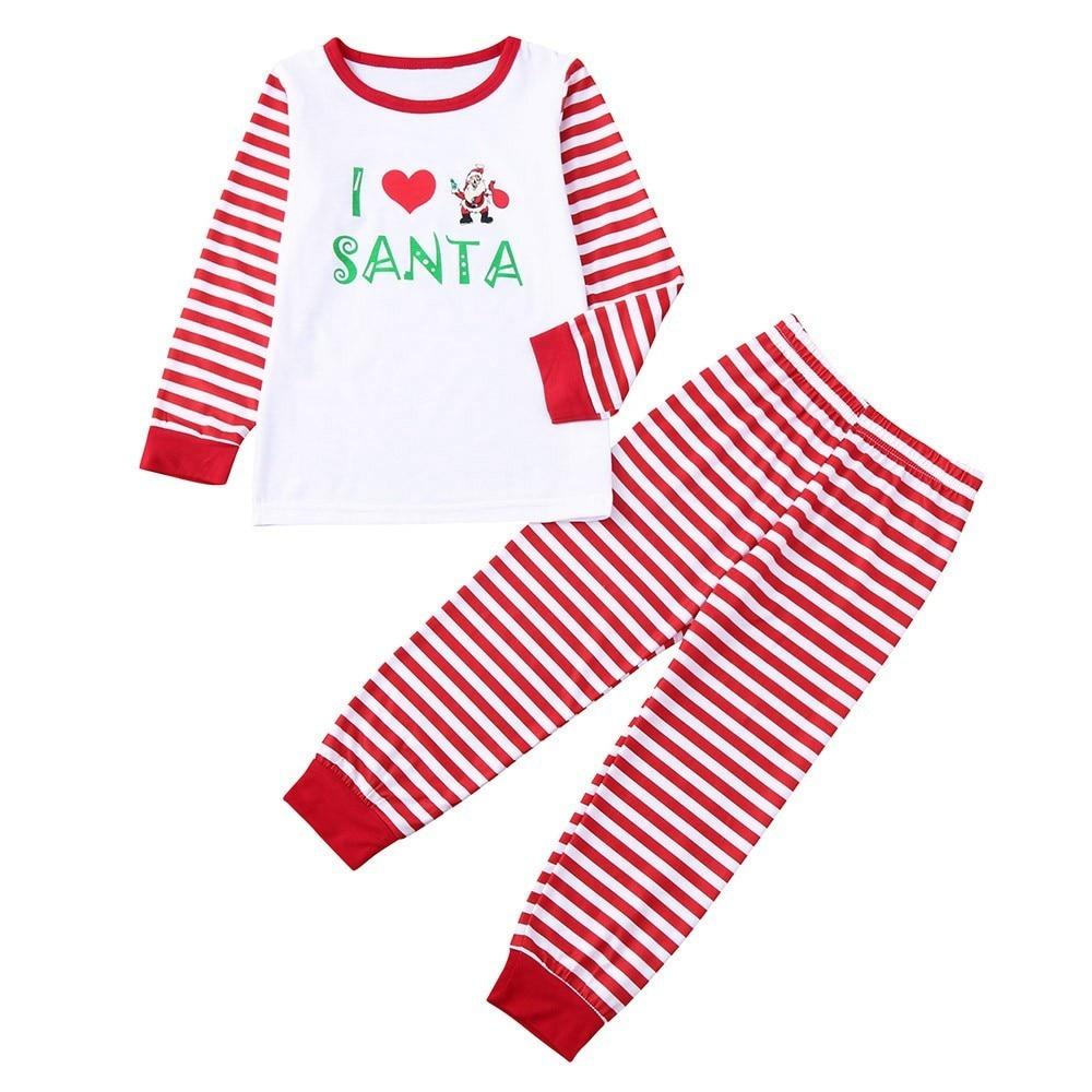 81dbab5649 2018 Family Matching Christmas Pajamas Set Women Baby Kids Elf Sleepwear  Cartoon Nightwear Family Matching Clothes-in Matching Family Outfits from  Mother ...