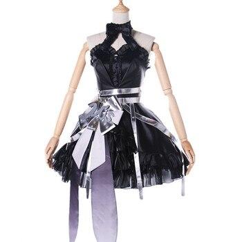 LoveLive! cosplay Anime Cartoon Halloween cos Minami Kotori cosplay Lolita Gothic black dress set costume