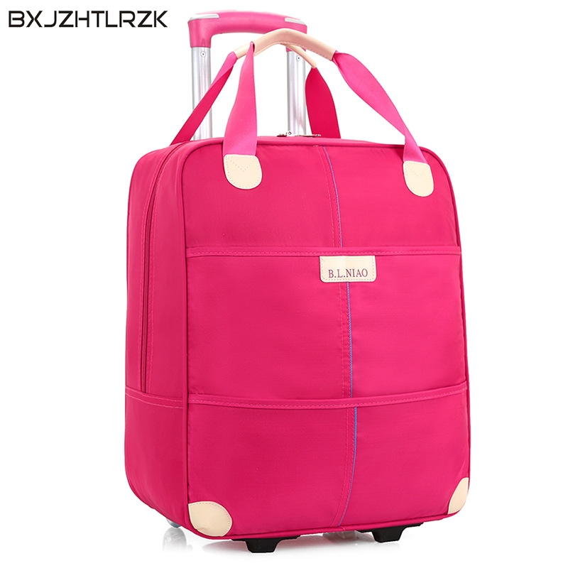BXJZHTLRZK men and women travel luggage directional wheel travel trolley case suitcase large capacity travel bag