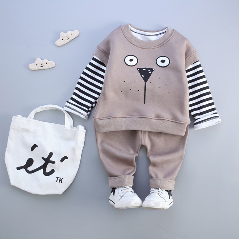 New Fashion Baby's Sets boys Cotton Long Sleeve  Underwear + Vest +  Casual Pants Boys Kids  Autumn Spring Clothes Set Outfit autumn new fashion cotton jeans women loose low waist washed vintage big hole ripped long denim pencil pants casual girl pants