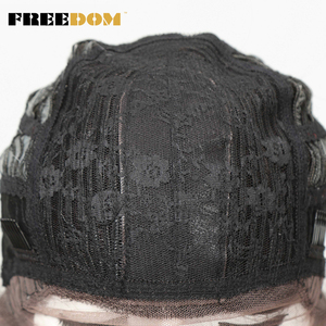 Image 5 - חופש שיער סינטטי פאה עבור נשים 24 אינץ תחרה מול פאות לנשים שחורות ארוך Loose גל חום עמיד סינטטי שיער פאות