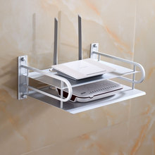 Space Aluminum Single / Dual Layers Router Support Bracket Wireless Wifi Wall Mounted Metal Shelf