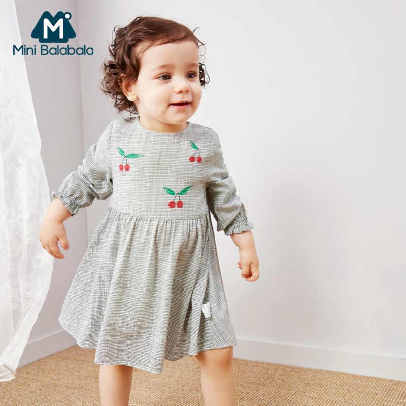 מיני balabalaBaby בנות שמלת 2019 אביב חדש ילדי תינוק יילוד פרחוני ארוך שרוול מילה כותנה שמלות
