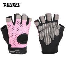 Aolikes тактический Спорт фитнес тяжелая атлетика спортивные перчатки для тренировок фитнес, бодибилдинг, тренировка запястья обертывание спортивные перчатки для мужчин