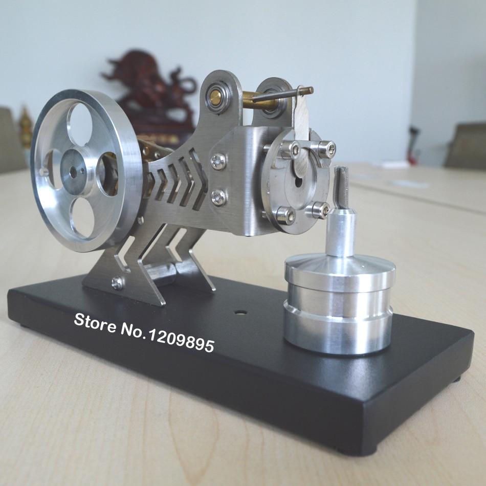 Stirlingmotormodel Klassieke vacuümmotor Zwarte wetenschap en - School en educatieve benodigdheden - Foto 2