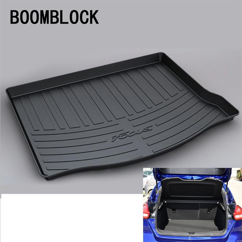 BOOMBLOCK For Ford Focus 3 Hatchback Hatch 2012 2013 2014 2015 2016 2017 2018 Waterproof Car Trunk Mat Tray Floor Carpet Pad все цены