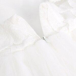Image 5 - Iiniim フラワーガールズドレスホワイトアイボリーリアル Vestidos パーティープリンセスドレスリトル子供子供の中空ハートドレス結婚式のための