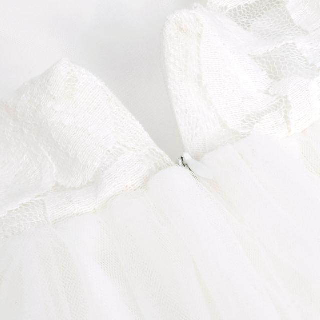 iiniim Brand New Flower Girl Dresses White Ivory Real Party Pageant Communion Dress Little Girls Kids Children Dress for Wedding