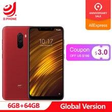 Küresel Sürüm Xiaomi POCOPHONE F1 POCO F1 6 GB RAM 64 GB ROM Snapdragon 845 6.18