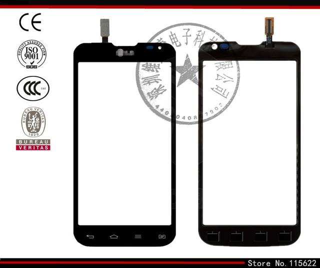 Tela sensível ao toque para lg d410 optimus l90 dual sim sensor digitador de vidro do painel frontal da lente de vidro com o logotipo (preto, branco)