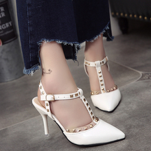 Free shipping fashion rivet sandals women pionted toe shoes 3 colors