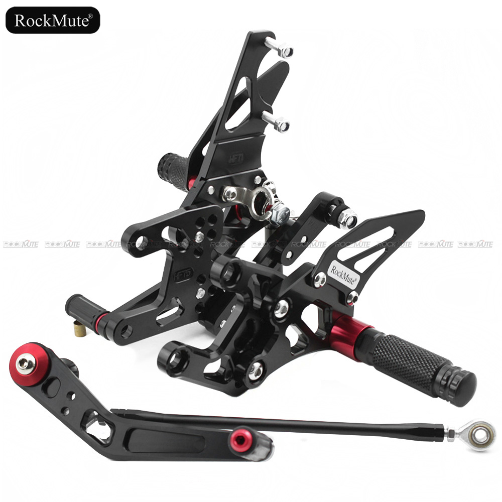 Motorcycle Rearsets For Honda CBR1000RR (non-ABS) 2012-2018 CNC Adjustable Footrest Shift Lever Brake Pedal Foot Pegs Rear Set