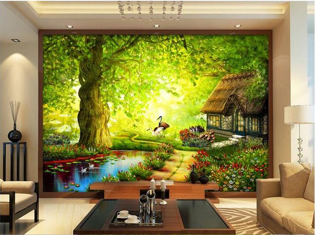 3d wallpaper custom mural non woven room wall sticker for English garden wall mural