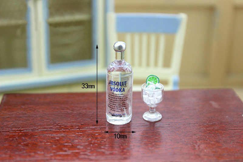 1:12 1:6 масштаб моделирования вино одно бутылка водки BJD кукольная Миниатюра игрушки куклы Еда Кухня гостиная аксессуары
