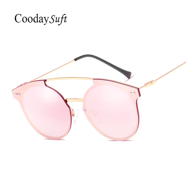 CVOO Sunglasses Women Goggle Glasses Oversized Metal Frame For Female Sunglasses Vintage Cool Designer Eyewear UV400 uEYCbF6mcs