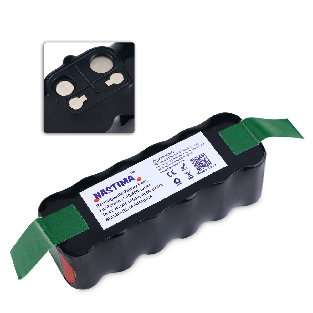NASTIMA 14.4v 4850mAh Battery For Roomba 500 600 700 800 Series Vacuum Cleaner Robots 600 620 650 700 770 780 800 [UL&CE listed] цена