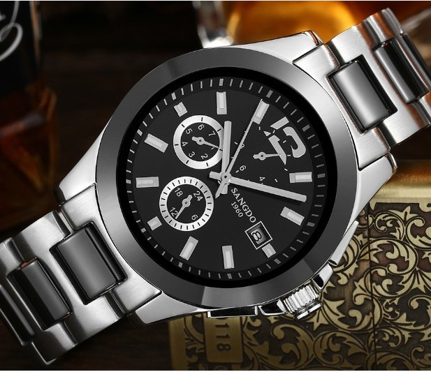 40mm Sangdo Business watch Automatic mechanical movement 2018 new fashion Mechanical watch Auto Date Men's watch s36a