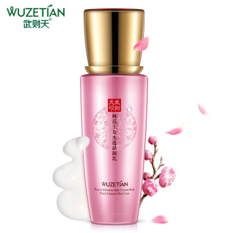 HOT WUZetian Peach Jade Woman Water Transparent Crystal Breast Crystal Clear Watery Run-smooth Shrink Pore Emulsion SKIN CARE