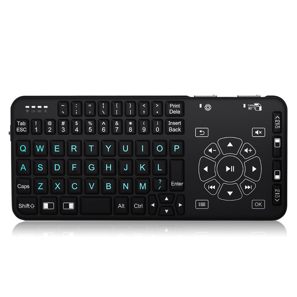 rii mini i4 wireless handheld remote multimedia backlit touchpad keyboard for pc laptop android. Black Bedroom Furniture Sets. Home Design Ideas