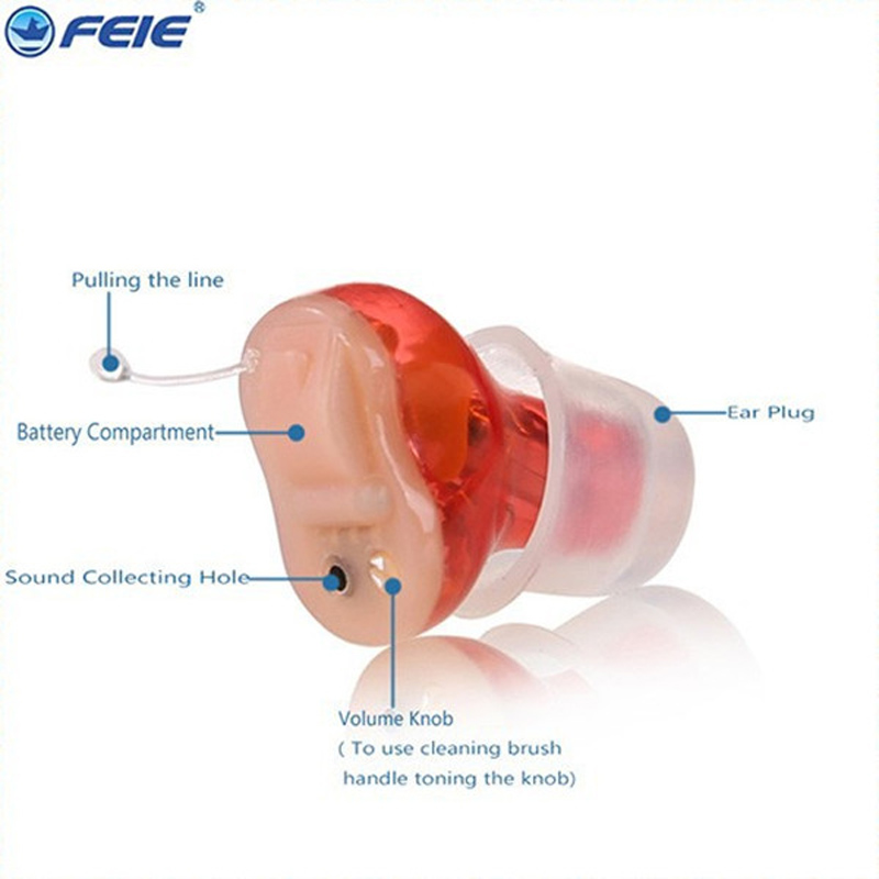Feie hot sale digital CIC ear hearing aid volume adjustable Tone Hearing Loss listening device s-10A free shipping casual bow slides women summer beach shoes woman leather slippers flat flip flops ladies sandals