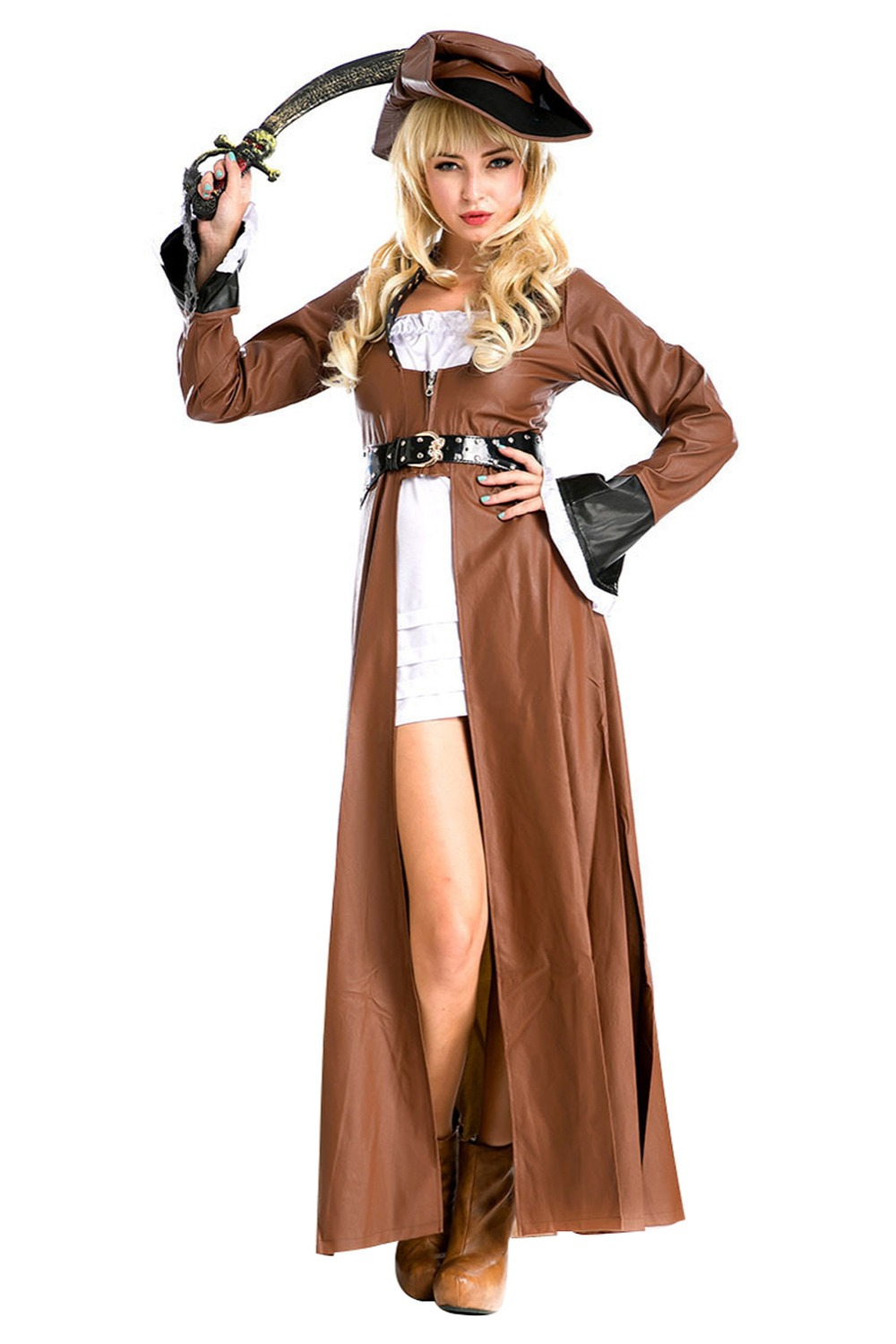 Female/Women Halloween Pirates role playing suit Cosplay Costume