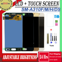 SM-A310F/M/H/DS TFT LCD For Samsung Galaxy A3 2016 A310 A3100F A3100 A310F A310H LCD Display Touch Screen Digitizer Tot quality