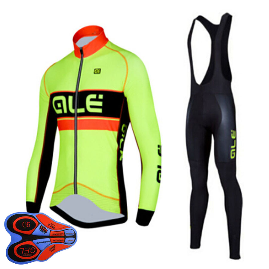 New Breathable Long Sleeves Riding Wear Set Men`s Spring/Autumn Team Cycling Jersey Bicycle Clothing Ropa Maillot Ciclismo