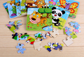 Children's wooden puzzles cartoon animals wood tangram puzzle game brain teaser toy jigsaw board puzzle educational toy baby kid