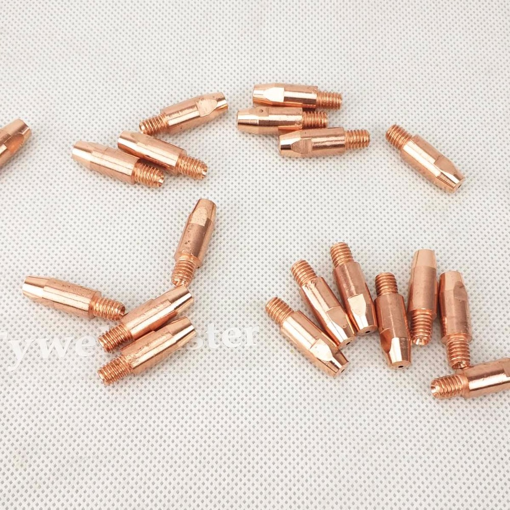 20pcs 24KD Contact Tip CuCrZr MIG Torch/Gun Consumables 0.8/1.0/1.2mm Welding Tips For Euro Style MIG MAG Welding Torch