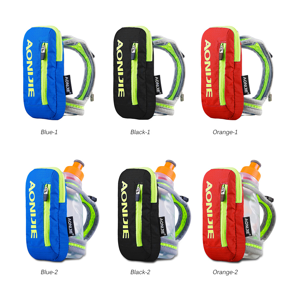 US $16 14 |AONIJIE Handheld Bag Hydration Pack Mobile Phone Pocket Case  Running Hand Bag with 250ml Water Bottle Cycling Marathon Hiking-in Running