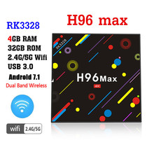 H96 MAX H1 Android 7.1 TV Box update version to Max H2 4G 32G Set Top RK3328 Wifi BT 4K H.265 Media Player pk h96 pro