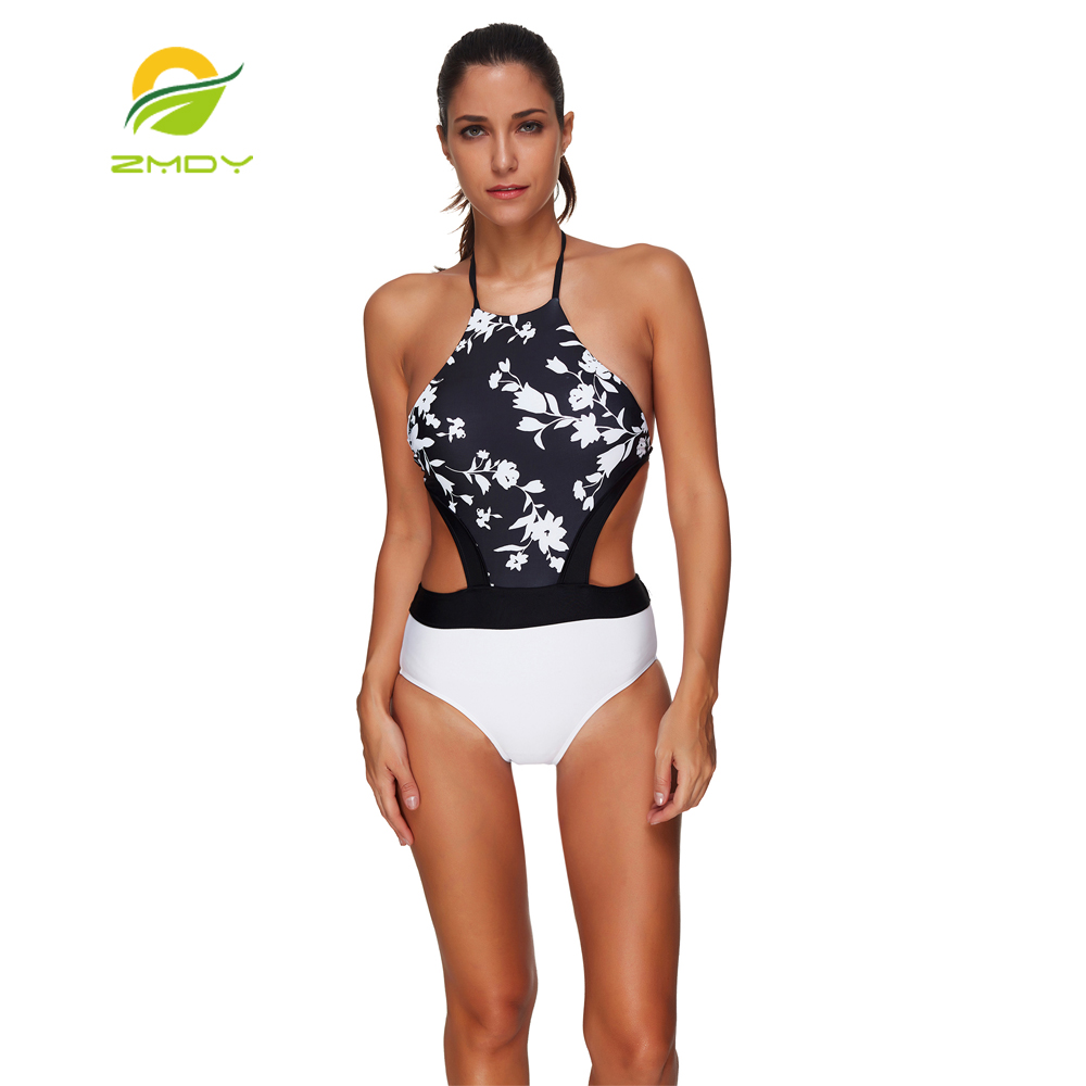 ZMDY One Piece Swimsuit Swimwear Swimming Suit For Women 2017 Bathing Suit Vintage Beach Push Up Bandage Swim Suit Monokini hello beach one piece swimsuit bandage swimming suit for women swimwear solid bathing suit monokini swim suit 2017 blue swimsuit