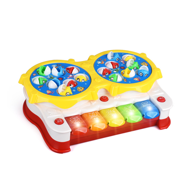 2in1 Function Baby Kids Toys Classical Songs Fishing&Music Toy with Lights Toy Gifts NSV775