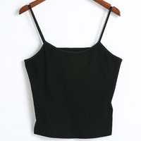 Female Summer Sexy Black Knitted Crop Tops Women Off The Shoulder Backless Short Tank Tops Casual