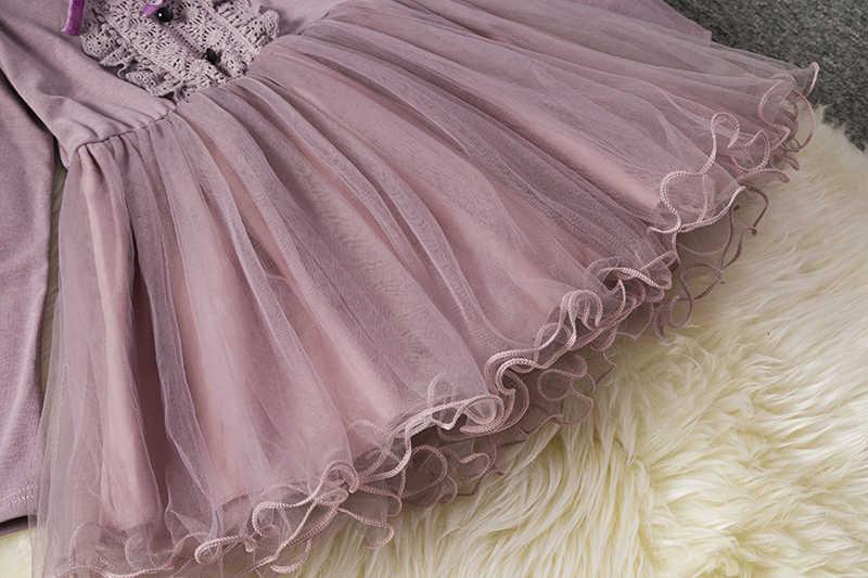 Disfraz Navidad Ni/рождественское платье принцессы с длинными рукавами для девочек, детское Новогоднее бальное платье для девочек, vestido de festa infantil