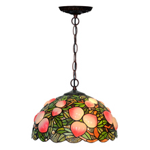 Rustic Rural Antique Art Deco Colourful Stained Glass Tiffanylamp Bedroom Living Dining Room Hanging Pendant Light Lamp Kitchen