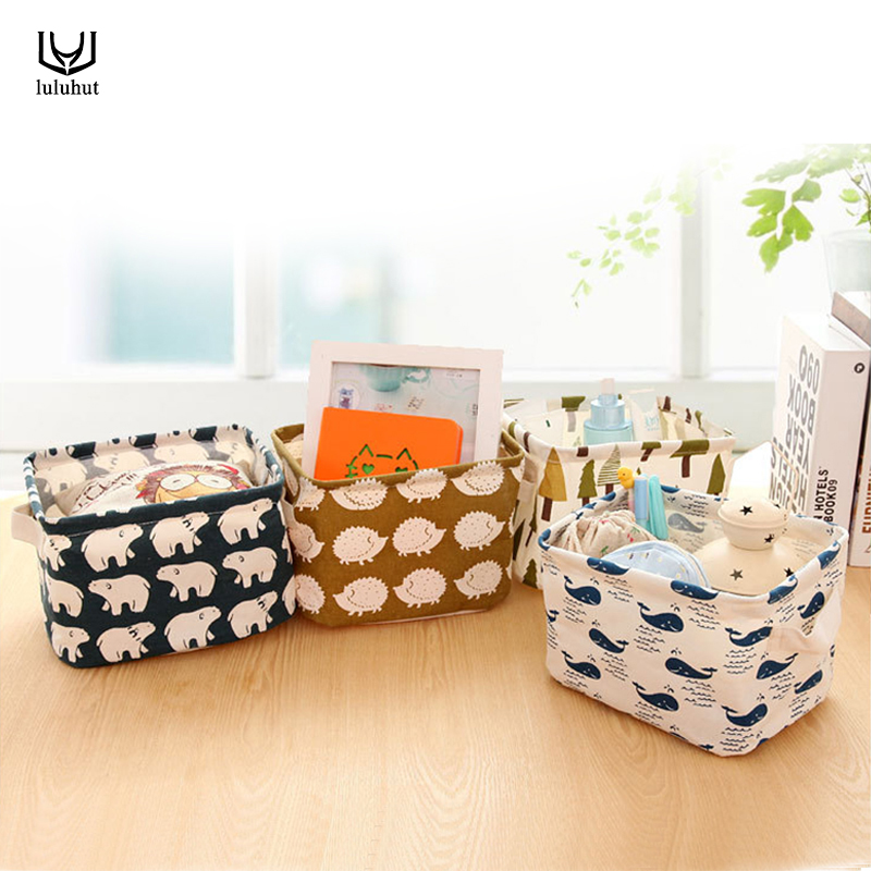 luluhut waterproof storage box desktop makeup organizer sundries container home office storage with handle storage basket
