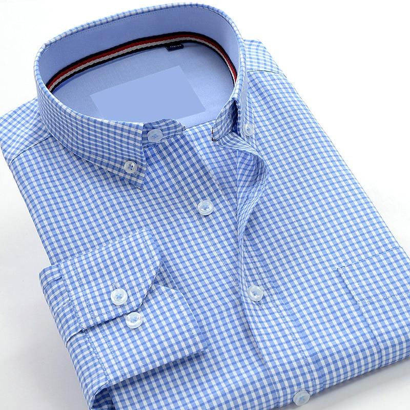 Herrenbekleidung & Zubehör Neue Ankunft Mode Plaid Mens Langarm Hohe Qualität Shirts Formale Herbst Shirts Sehr Große Große Plus Größe M-7xl8xl9xl 10xl Fest In Der Struktur Hemden