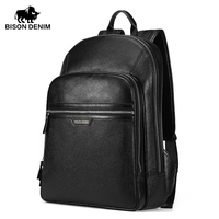 Bison Denim 100 Genuine Leather Men S Business Backpack Large Capacity First Layer Of Cowhide Bag