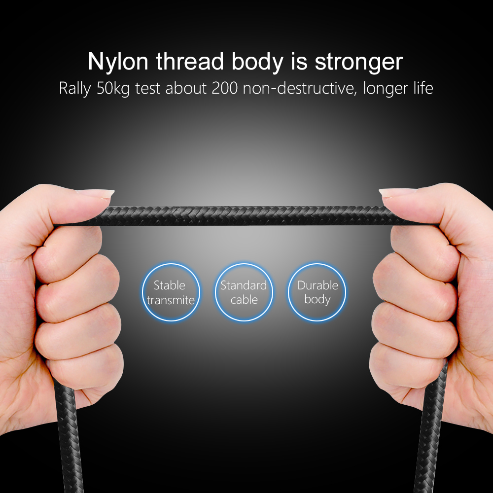 OLAF Magnetic Cable LED Nylon Micro USB Type C Cable For iPhone X XS Max Samsung S9 S8 Huawei Xiaomi USB C Magnet Charger Cord in Mobile Phone Cables from Cellphones Telecommunications